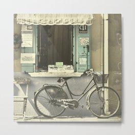 Burano Bicycle Metal Print