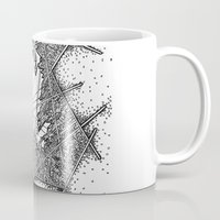 fractal Mugs featuring Fractal by Abstract Al