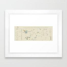 Mistery map (Visual Data 12) Framed Art Print