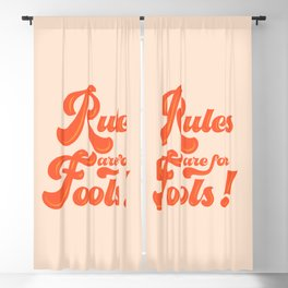 Rules are for fools Blackout Curtain