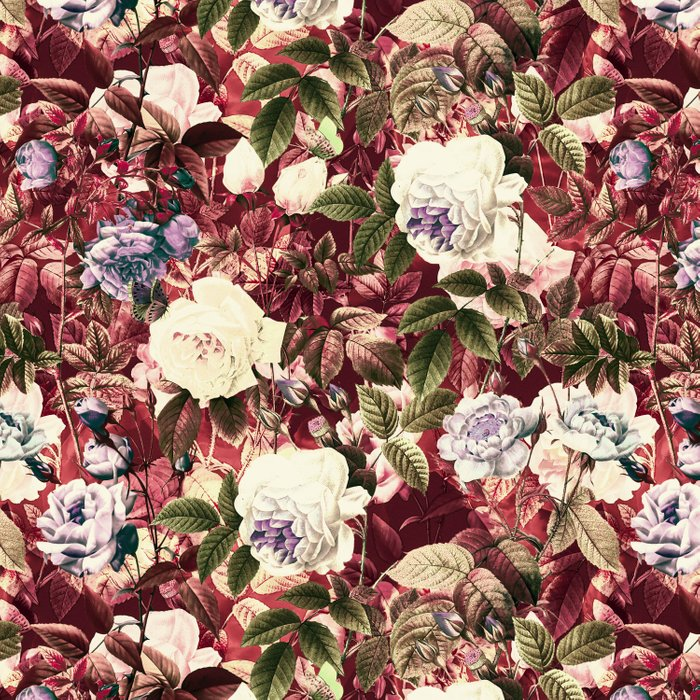 Abstract floral pattern Comforters