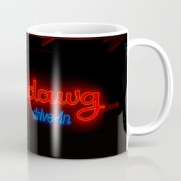 Superdawg Drive-In Vintage Neon Sign Chicago Illinois Glowing Red Coffee Mug