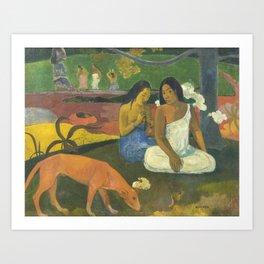 Paul Gauguin - Arearea / Joyousness I (1892) Art Print