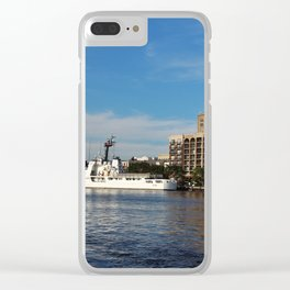 City Across The River Clear iPhone Case
