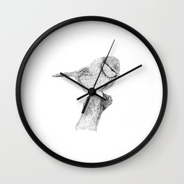 Blue Tit Wall Clock