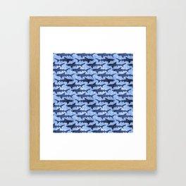 Blue Ocean Shark Framed Art Print