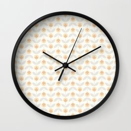 Little Yellow Blossoms Pattern Wall Clock