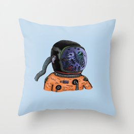 Sea Astronaut Throw Pillow