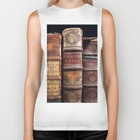 library Biker Tanks featuring Library by Mad Marys