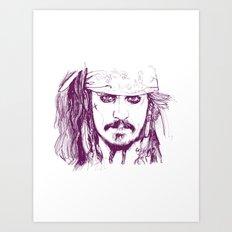 Captain Jack - Pirates of the Caribbean Art Print