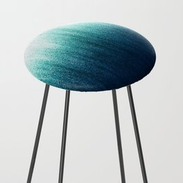 Teal Ombré Counter Stool