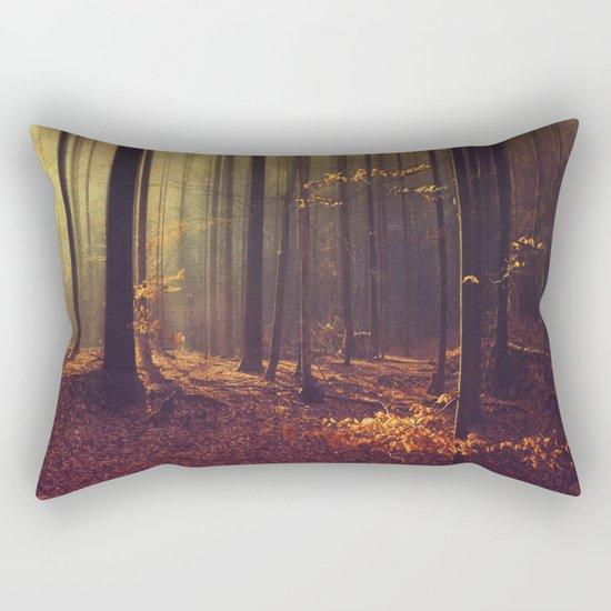 Light Hunters - Abstract orest in Sunlight Rectangular Pillow