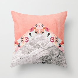 MIX IT BABY - CORAL MARBLE Throw Pillow