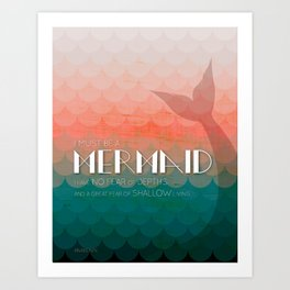I Must Be A Mermaid Art Print