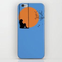 Dreaming like a child iPhone Skin