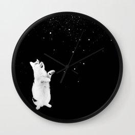 Kitty See Snow Wall Clock