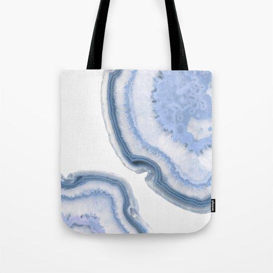 Airy Blue Agate Tote Bag