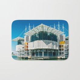 The Lisbon Oceanarium, Aquarium In Portugal, Parque das Nacoes, Wall Art Print, Modern Architecture Bath Mat