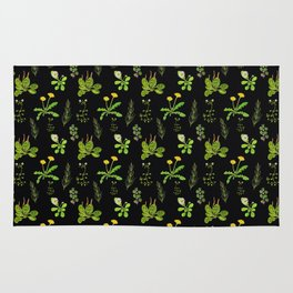 Lovely Weeds By Night Rug