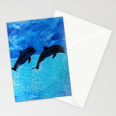 Jumping Dolphins Stationery Cards