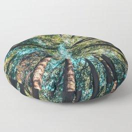 Treetop green blue Floor Pillow