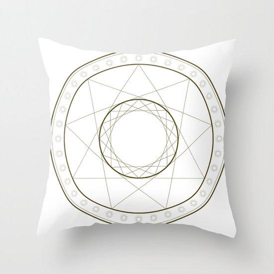 Anime Magic Circle 14 Throw Pillow