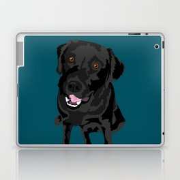 Black Labrador Laptop & iPad Skin