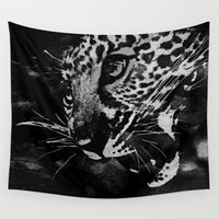 leopard Wall Tapestries featuring Leopard by Leah Flores