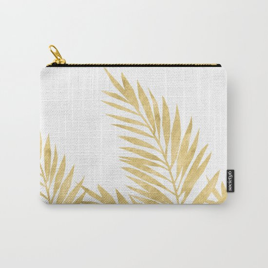 Palm Leaves Golden Carry-All Pouch