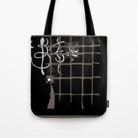 kandinsky Tote Bags featuring Kandinsky...comics! by Marcia Borges