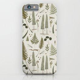 fern pattern white iPhone Case