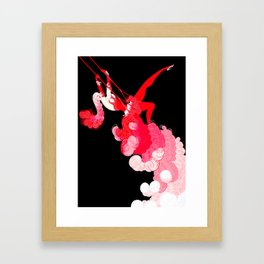 "Art Deco Illustration ""Trapeze"" Framed Art Print"