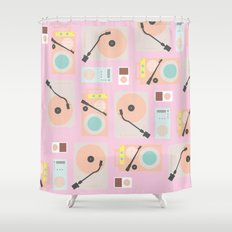 Music Lover Pastel Shower Curtain