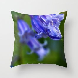 Bluebell Stem Throw Pillow