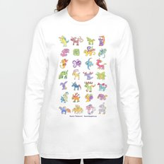 Colorful Animals Long Sleeve T-shirt