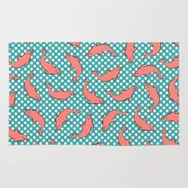 dolphin pattern Rug