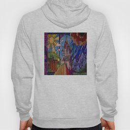 ROMANCE BEAUTY AND THE BEAST Castle Stained Glass Hoody