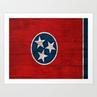 tennessee Art Prints featuring Tennessee by C Liza B