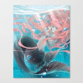 pool mermaid Canvas Print
