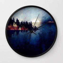 Autumn Moon Reflection Wall Clock