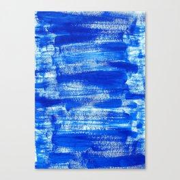 Cool & Calming Cobalt Blue Paint on White  Canvas Print