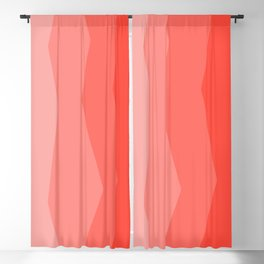 Cool Geometric Living Coral Gradient abstract Blackout Curtain