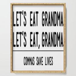 Let's Eat Grandma - Commas Save Lives Serving Tray