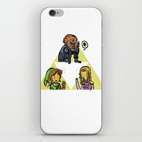 triforce iPhone & iPod Skins featuring Triforce by JosephGribbin