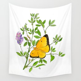 Clouded Sulfur Wall Tapestry