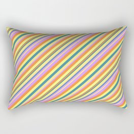 Bright Shine Inclined Stripes Rectangular Pillow
