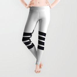 Classic Black Stripes Leggings