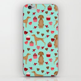 Vizsla valentines day dog breed gifts for dog lover unique dog pet portraits animal art iPhone Skin