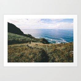 Seaside Bluffs    Oregon Coast Art Print