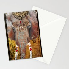 Gilded Elephant of Jaipur Stationery Cards